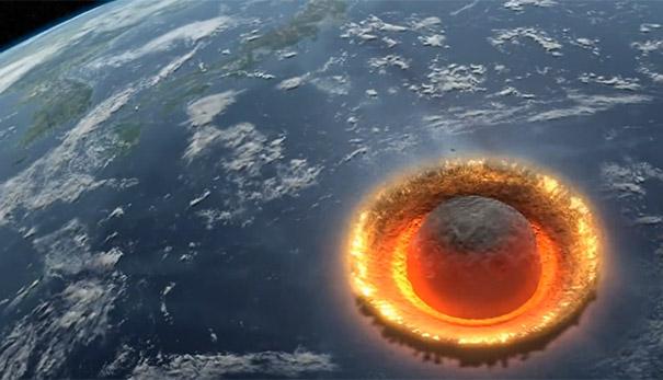 Καταστροφική πρόσκρουση αστεροειδή στην Γη