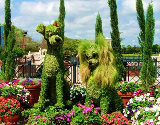 Φυτά σε σχήματα χαρακτήρων του Disney