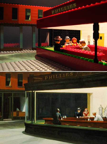 Διάσημοι πίνακες σε μορφή Lego