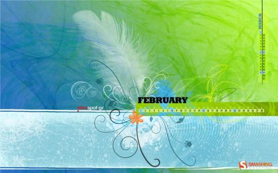 Wallpaper/Calendar February 2009