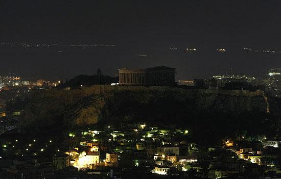 Αcropolis Earth Hour 2009