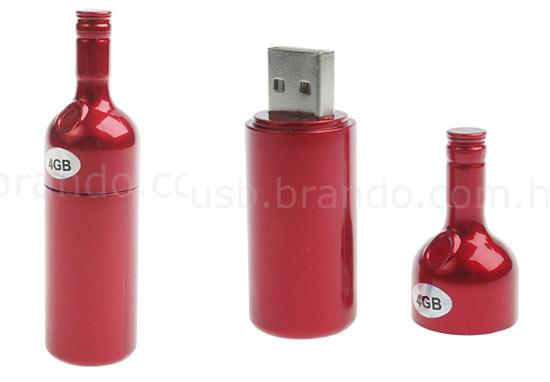 Realistic usb flash drives Bottle