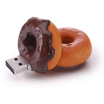 Realistic usb flash drives donut