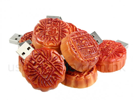 Realistic usb flash drives mooncake
