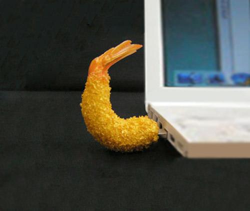Realistic usb flash drives shrimp