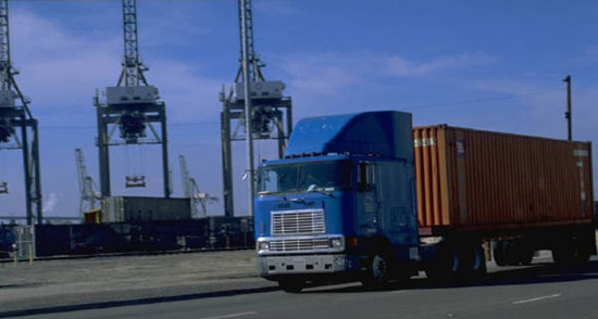 Φορτηγό με container