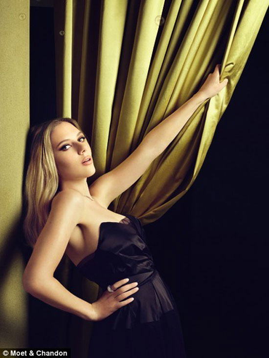 Scarlett Johansson Champagne Ad