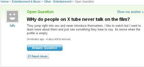 Αστείες ερωτήσεις στο Yahoo! Answers