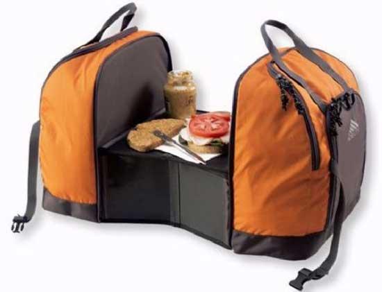 Τσάντα πλάτης- Θερμός που γίνετε τραπεζάκι