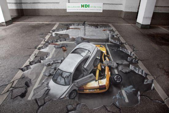 3D Ζωγραφιές στο δρόμο