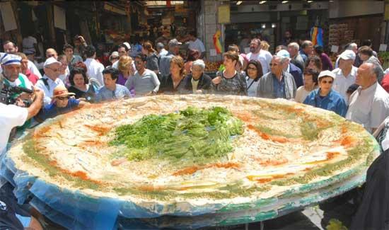 Παγκόσμιο ρεκόρ μεγαλύτερου πιάτου Χούμους