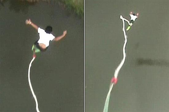 Bungee jumping με κομμένο σκοινί