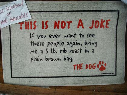 Αστεία χαλάκια πόρτας