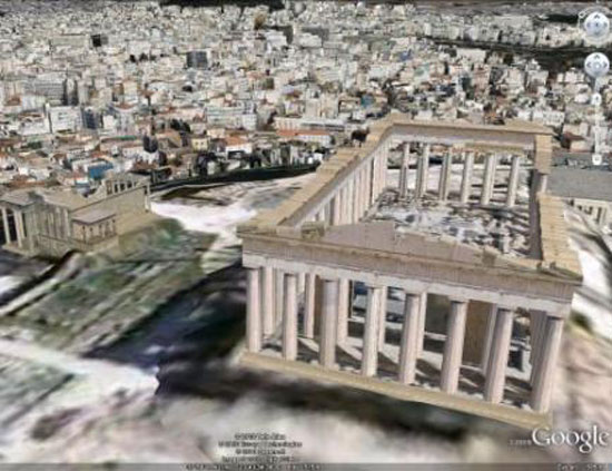 Google Earth: 3D Athens