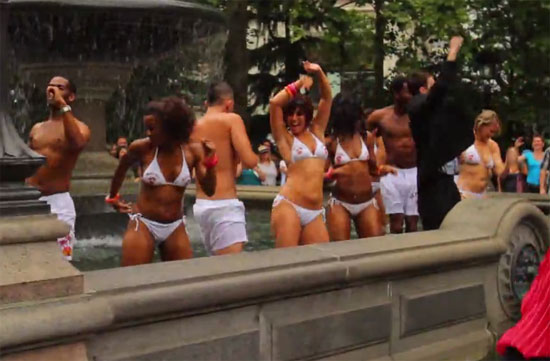Flash Mob in City Hall Park
