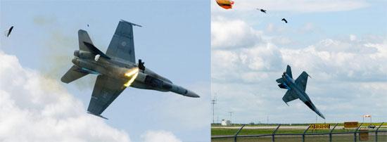Jet Crash CF-18 Fighter