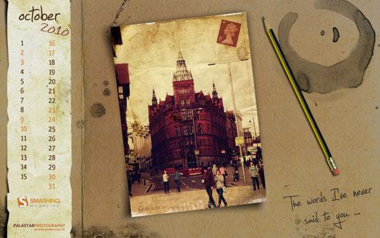Wallpapers ημερολόγια Οκτωβρίου 2010