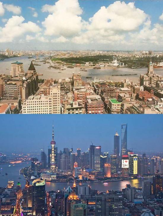 Φωτογραφία της ημέρας: Shangai 1990 vs 2010