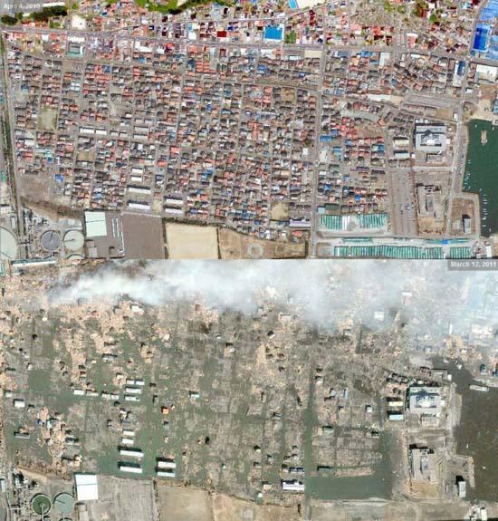 Ιαπωνία από ψηλά: Πριν και μετά το φονικό τσουνάμι (1)