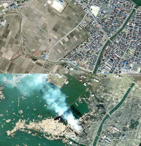 Ιαπωνία από ψηλά: Πριν και μετά το φονικό τσουνάμι (2)
