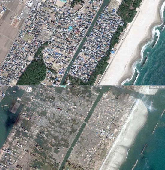 Ιαπωνία από ψηλά: Πριν και μετά το φονικό τσουνάμι (3)