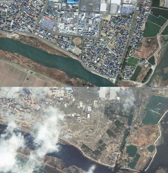Ιαπωνία από ψηλά: Πριν και μετά το φονικό τσουνάμι (4)