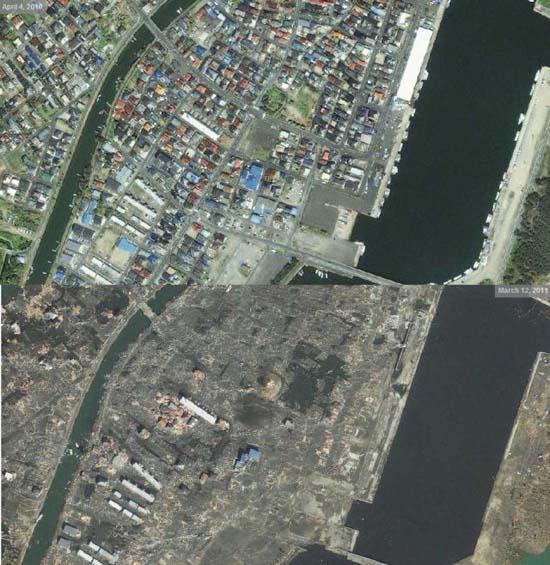 Ιαπωνία από ψηλά: Πριν και μετά το φονικό τσουνάμι (5)
