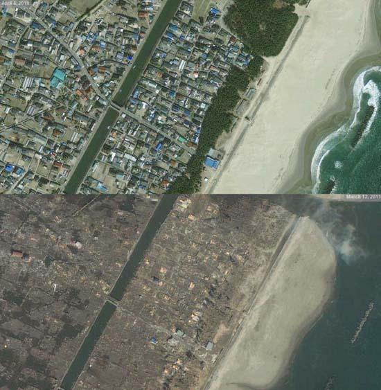 Ιαπωνία από ψηλά: Πριν και μετά το φονικό τσουνάμι (6)