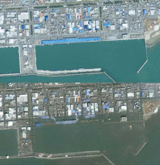 Ιαπωνία από ψηλά: Πριν και μετά το φονικό τσουνάμι (7)