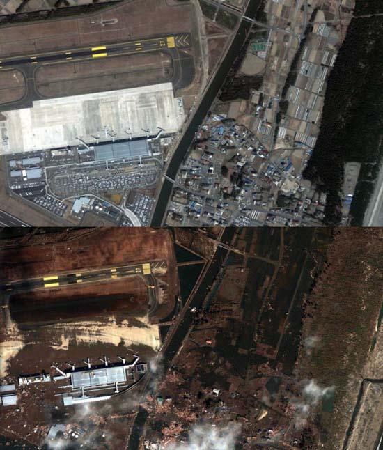 Ιαπωνία από ψηλά: Πριν και μετά το φονικό τσουνάμι (8)