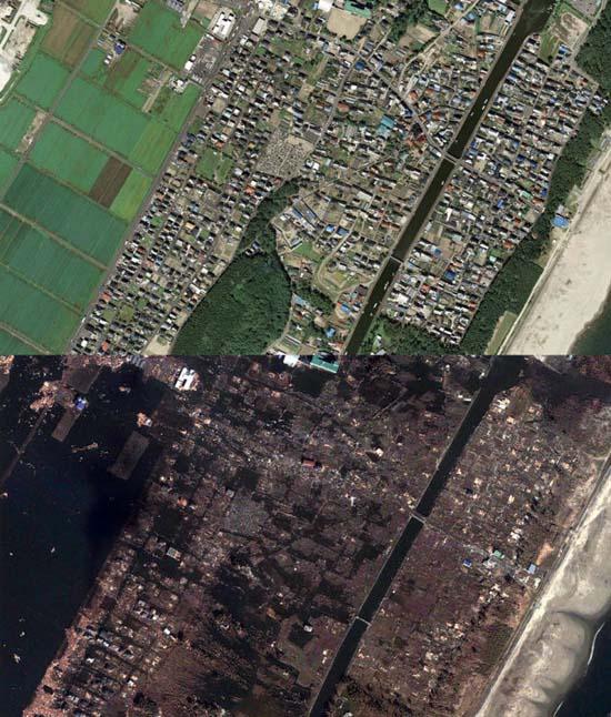 Ιαπωνία από ψηλά: Πριν και μετά το φονικό τσουνάμι (9)
