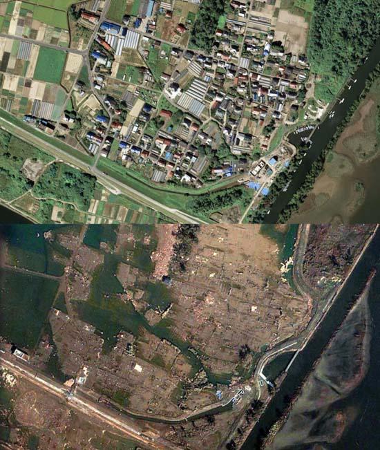 Ιαπωνία από ψηλά: Πριν και μετά το φονικό τσουνάμι (10)