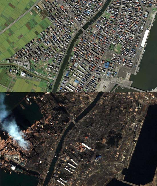 Ιαπωνία από ψηλά: Πριν και μετά το φονικό τσουνάμι (11)