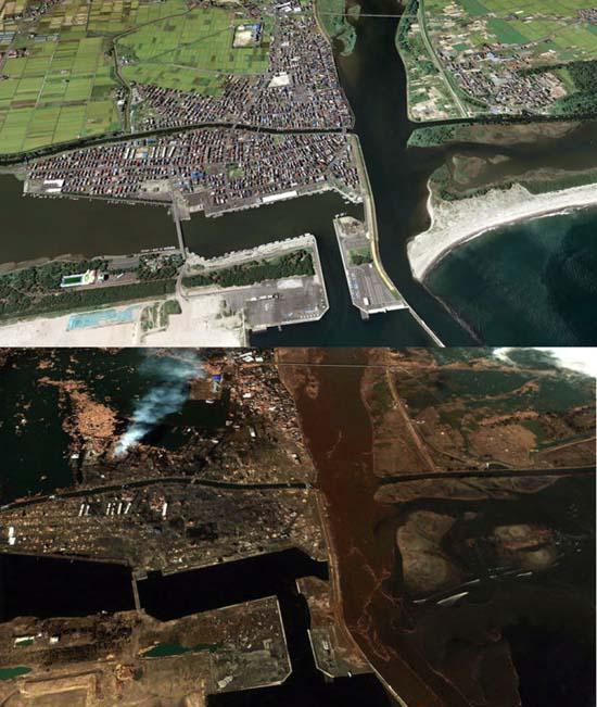 Ιαπωνία από ψηλά: Πριν και μετά το φονικό τσουνάμι (12)