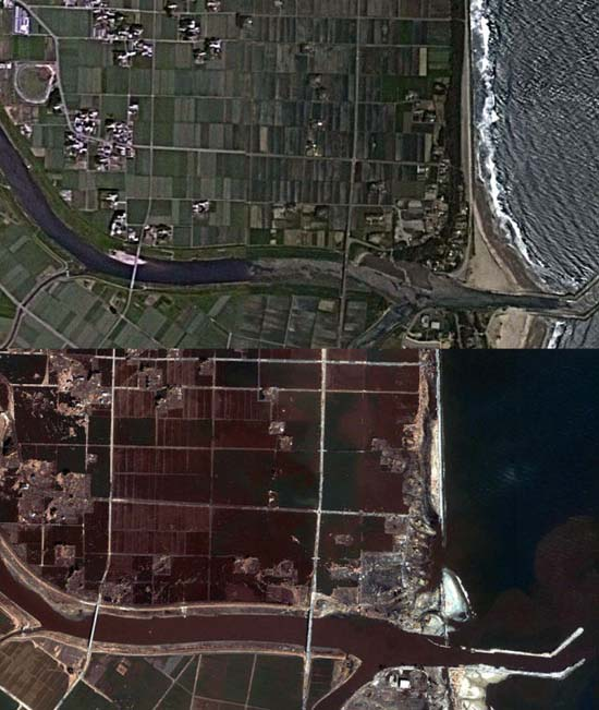 Ιαπωνία από ψηλά: Πριν και μετά το φονικό τσουνάμι (14)