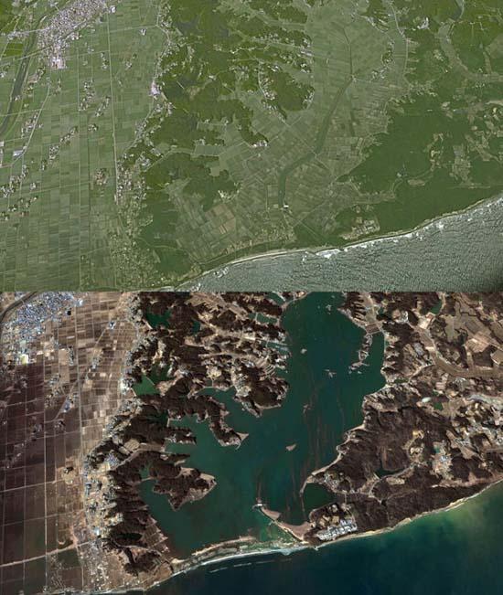 Ιαπωνία από ψηλά: Πριν και μετά το φονικό τσουνάμι (15)