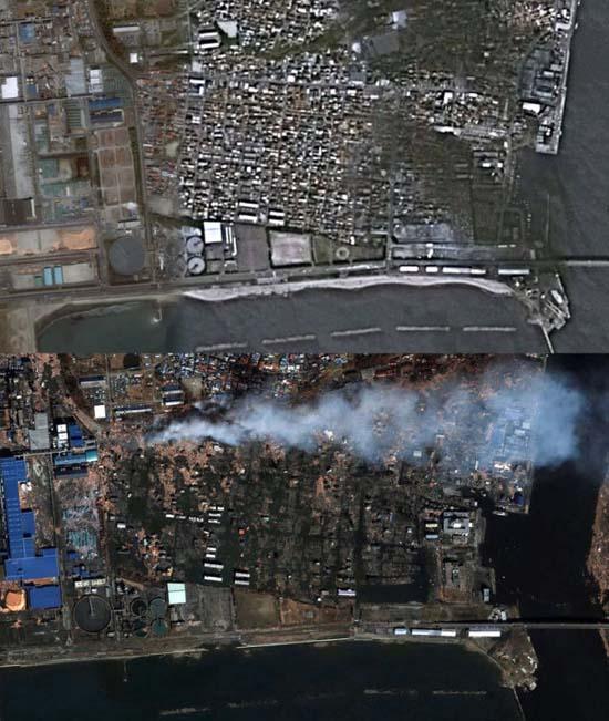 Ιαπωνία από ψηλά: Πριν και μετά το φονικό τσουνάμι (17)