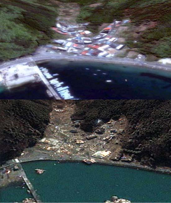 Ιαπωνία από ψηλά: Πριν και μετά το φονικό τσουνάμι (18)