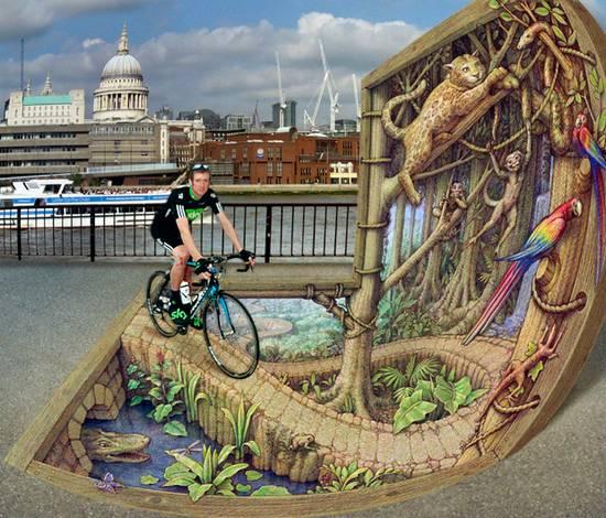 Απίθανη 3D τέχνη στους δρόμους!!! (φώτο)