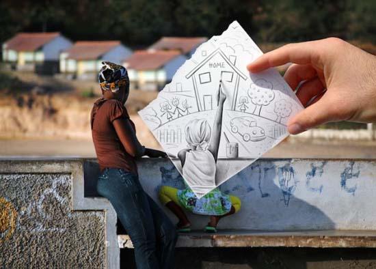 Φωτογραφία + Σκίτσο = Απίστευτη τέχνη (9)