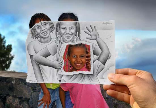 Φωτογραφία + Σκίτσο = Απίστευτη τέχνη (4)