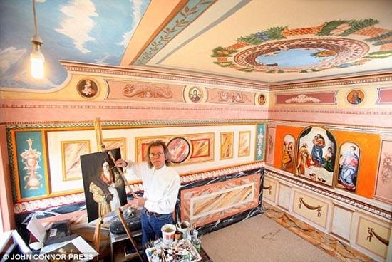 Έκανε αναπαράσταση του Sistine Chapel σε κάθε δωμάτιο του σπιτιού του (2)