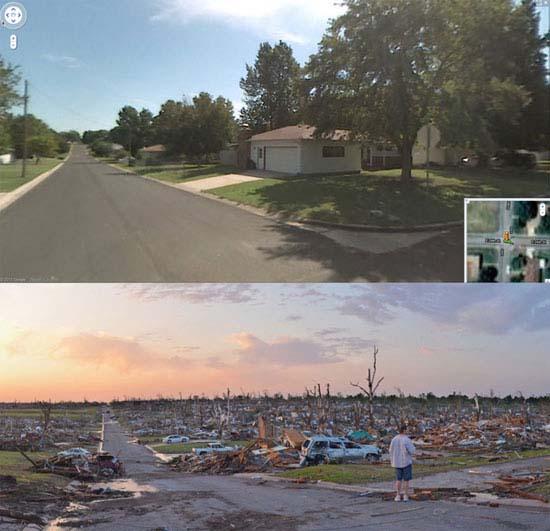 Πριν και μετά τον ανεμοστρόβιλο στο Missouri (1)