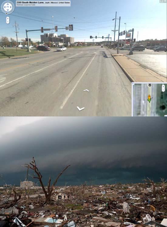 Πριν και μετά τον ανεμοστρόβιλο στο Missouri (2)