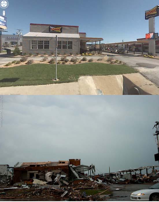 Πριν και μετά τον ανεμοστρόβιλο στο Missouri (3)