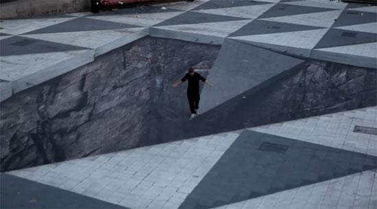 Πλατεία με 3D «γκρεμό» στη Σουηδία