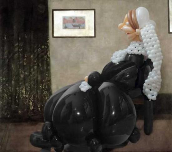 Αναπαράσταση διάσημων έργων τέχνης με μπαλόνια (1)