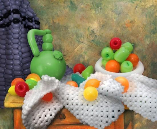 Αναπαράσταση διάσημων έργων τέχνης με μπαλόνια (2)