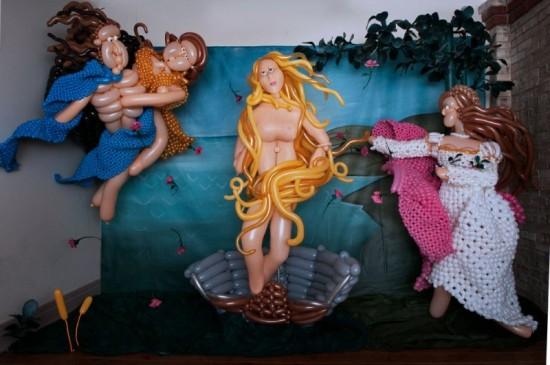 Αναπαράσταση διάσημων έργων τέχνης με μπαλόνια (3)