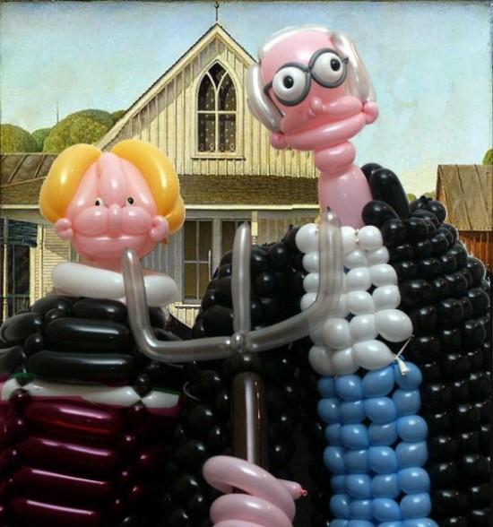 Αναπαράσταση διάσημων έργων τέχνης με μπαλόνια (6)